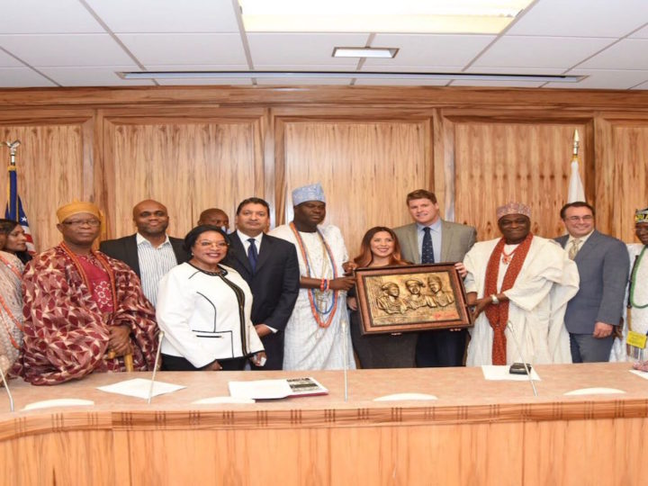 Ooni of Ife , at Silicon Valley, Bank of America, canvases support for Nigerians and Africa