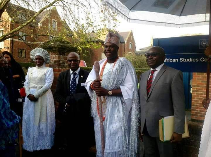 His Imperial Majesty, Ooni of Ife Adeyeye Enitan Ogunwusi,  signs Education scholarship with Oxford University, also honoured in Birmingham.